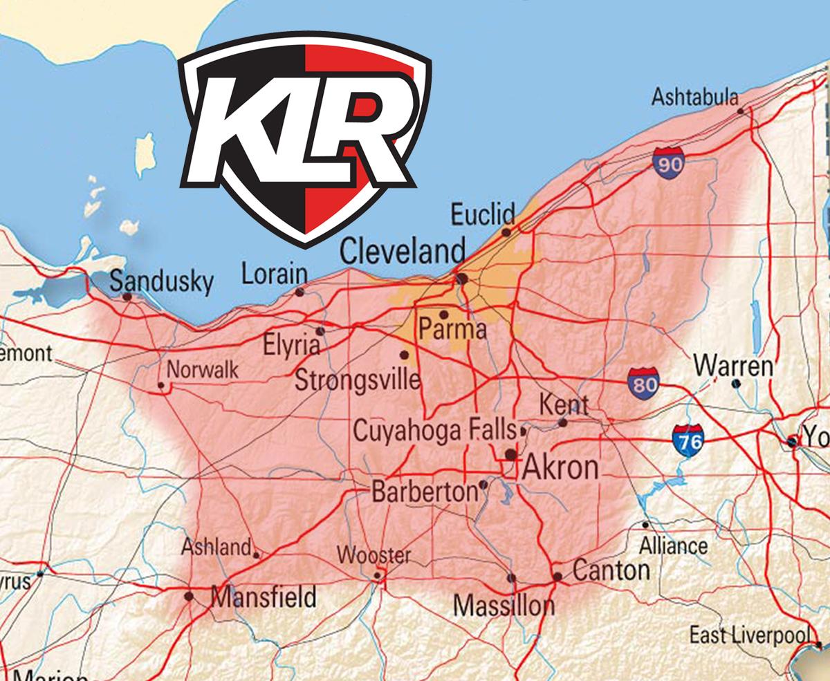 Northeast Ohio Service area of KLR