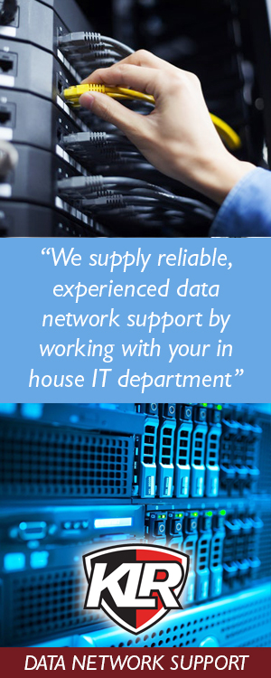 IT Support and data network support from KLR Fire and Security