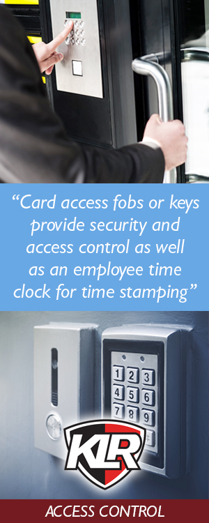 Card access keypads and access control from KLR Fire and Security
