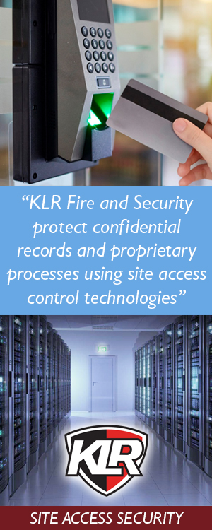 Site access security technology from KLR Fire and Security